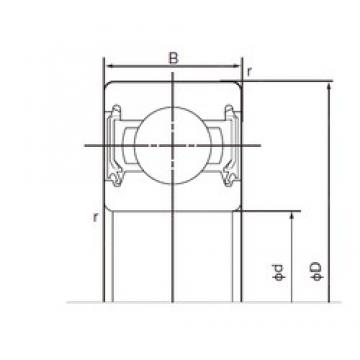 25 mm x 62 mm x 17 mm  NACHI 6305-2NSE deep groove ball bearings