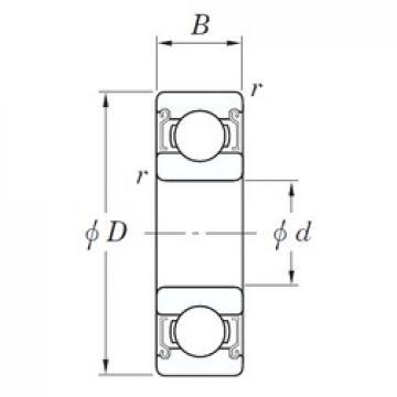 30 mm x 62 mm x 16 mm  KOYO SE 6206 ZZSTPR deep groove ball bearings