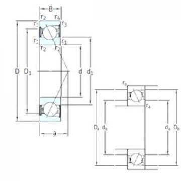 30 mm x 62 mm x 16 mm  SKF SS7206 CD/P4A angular contact ball bearings