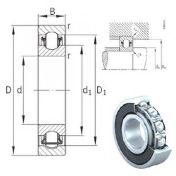 30 mm x 55 mm x 13 mm  INA BXRE006-2HRS needle roller bearings