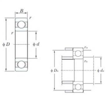 85 mm x 130 mm x 22 mm  KOYO 6017 deep groove ball bearings