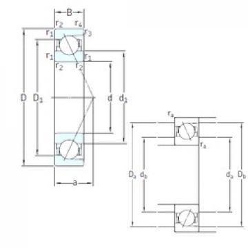30 mm x 62 mm x 16 mm  SNFA E 230 /NS 7CE3 angular contact ball bearings