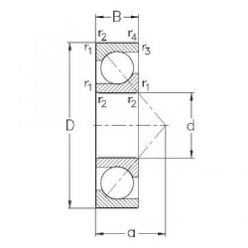30 mm x 62 mm x 16 mm  NKE 7206-BECB-MP angular contact ball bearings