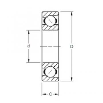 25 mm x 62 mm x 17 mm  Timken 7305WN angular contact ball bearings