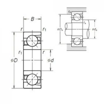 25 mm x 62 mm x 17 mm  NSK 7305BEA angular contact ball bearings