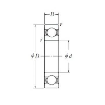 40 mm x 62 mm x 12 mm  NSK 6908L11 deep groove ball bearings