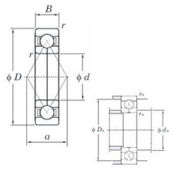 25 mm x 62 mm x 17 mm  KOYO 6305BI angular contact ball bearings