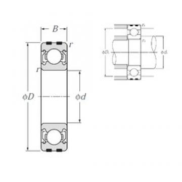 30 mm x 55 mm x 13 mm  NTN EC-6006ZZ deep groove ball bearings