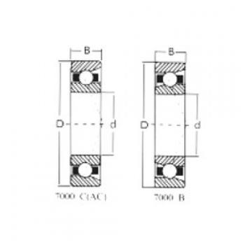25 mm x 52 mm x 15 mm  Loyal 7205C angular contact ball bearings