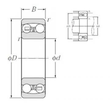 25 mm x 52 mm x 15 mm  NTN 1205S self aligning ball bearings