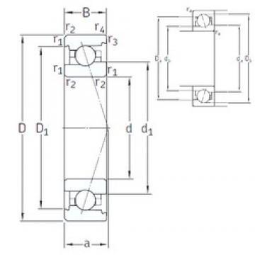 30 mm x 55 mm x 13 mm  SNFA VEX 30 7CE1 angular contact ball bearings