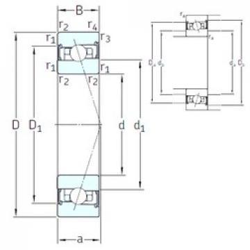 40 mm x 62 mm x 12 mm  SNFA HB40 /S 7CE1 angular contact ball bearings