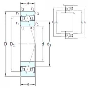 85 mm x 130 mm x 22 mm  SNFA HX85 /S 7CE3 angular contact ball bearings