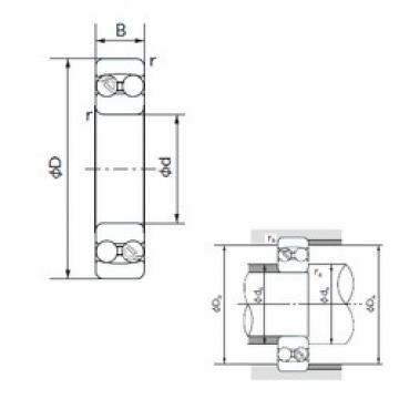 25 mm x 52 mm x 15 mm  NACHI 1205 self aligning ball bearings