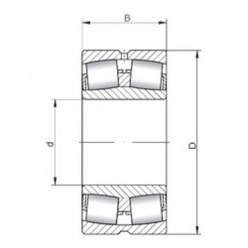 90 mm x 160 mm x 40 mm  Loyal 22218 CW33 spherical roller bearings