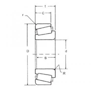 57,15 mm x 104,775 mm x 29,317 mm  FBJ 462/453X tapered roller bearings
