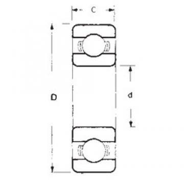 25 mm x 52 mm x 15 mm  FBJ 6205 deep groove ball bearings