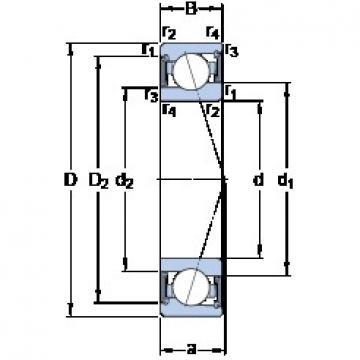 50 mm x 72 mm x 12 mm  SKF S71910 CE/HCP4A angular contact ball bearings