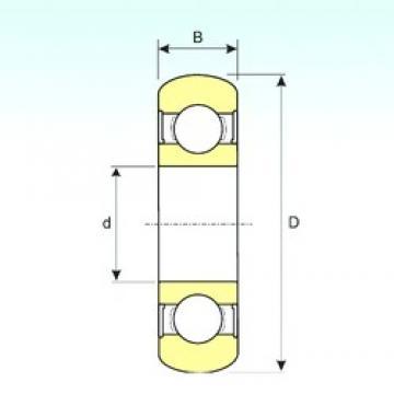 25 mm x 52 mm x 15 mm  ISB 6205-2RS BOMB deep groove ball bearings