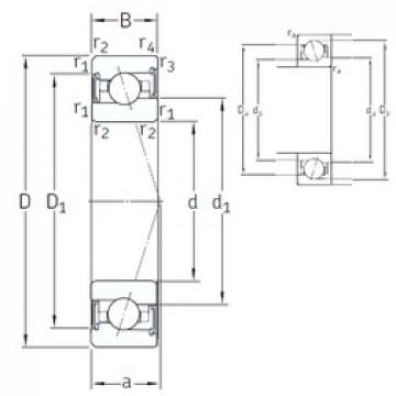 110 mm x 170 mm x 28 mm  SNFA VEX 110 /S 7CE3 angular contact ball bearings