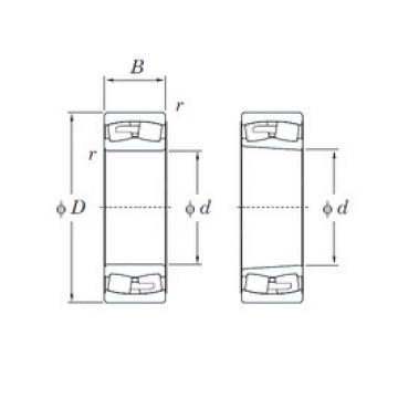 220 mm x 400 mm x 108 mm  KOYO 22244RHAK spherical roller bearings