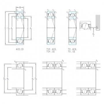 40 mm x 62 mm x 12 mm  SKF 71908 ACE/P4A angular contact ball bearings