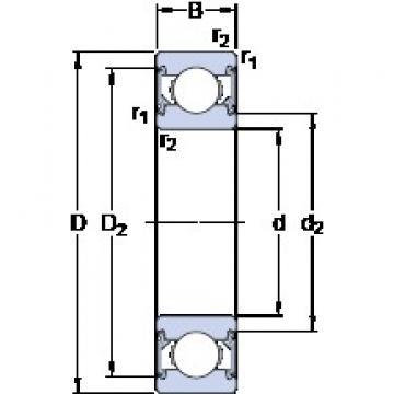 20 mm x 47 mm x 14 mm  SKF 6204-2RSH deep groove ball bearings