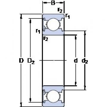 20 mm x 47 mm x 14 mm  SKF 6204-RSH deep groove ball bearings