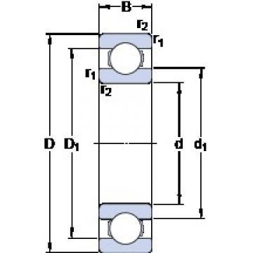 50 mm x 72 mm x 12 mm  SKF 61910 deep groove ball bearings