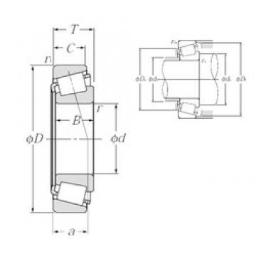 57,15 mm x 104,775 mm x 29,317 mm  NTN 4T-462/453X tapered roller bearings