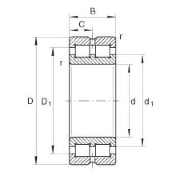 60 mm x 85 mm x 25 mm  INA SL014912 cylindrical roller bearings