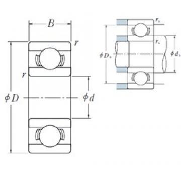 9 mm x 20 mm x 6 mm  NSK 699 deep groove ball bearings