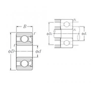 9 mm x 20 mm x 6 mm  NTN 699Z deep groove ball bearings