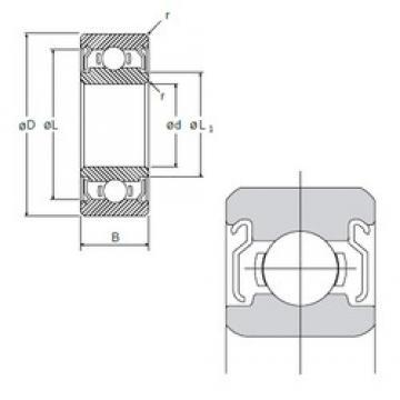 9 mm x 20 mm x 6 mm  NMB L-2090KK deep groove ball bearings