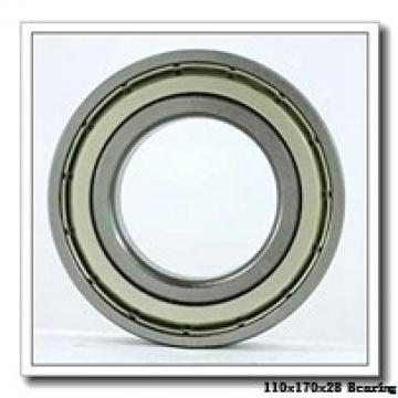 110 mm x 170 mm x 28 mm  KOYO 6022N deep groove ball bearings