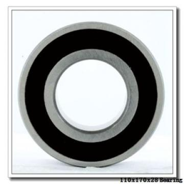 110 mm x 170 mm x 28 mm  ISO 6022 ZZ deep groove ball bearings