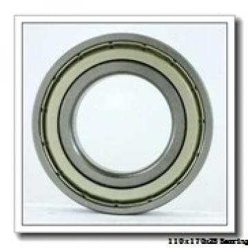 110 mm x 170 mm x 28 mm  ISB QJ 1022 angular contact ball bearings