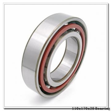 110 mm x 170 mm x 28 mm  ISO 7022 B angular contact ball bearings