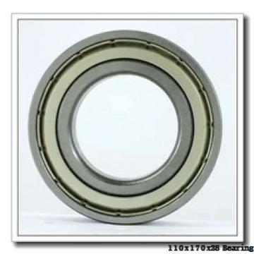 110 mm x 170 mm x 28 mm  KOYO 7022B angular contact ball bearings