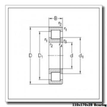 110 mm x 170 mm x 28 mm  KOYO N1022 cylindrical roller bearings