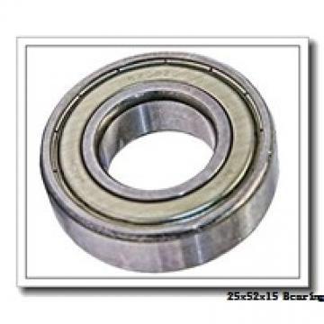 25 mm x 52 mm x 15 mm  NACHI 6205 deep groove ball bearings
