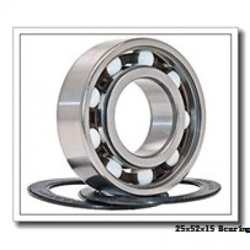 25 mm x 52 mm x 15 mm  KBC 6205UU deep groove ball bearings