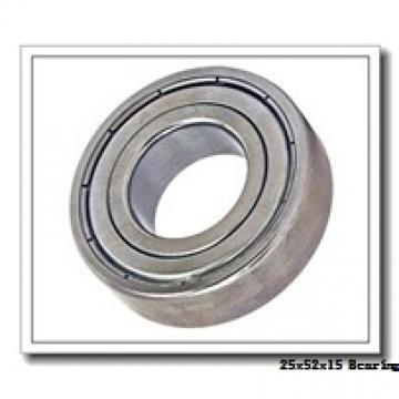 25 mm x 52 mm x 15 mm  ZEN S6205 deep groove ball bearings