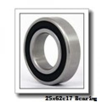 25 mm x 62 mm x 17 mm  NACHI 7305BDB angular contact ball bearings