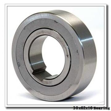 30 mm x 62 mm x 16 mm  ISB 6206-Z deep groove ball bearings
