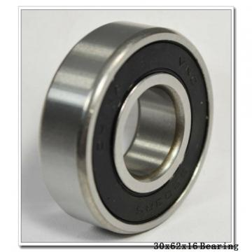 30 mm x 62 mm x 16 mm  NKE 6206-Z-N deep groove ball bearings
