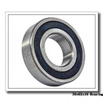 30 mm x 62 mm x 16 mm  ISO 6206-2RS deep groove ball bearings
