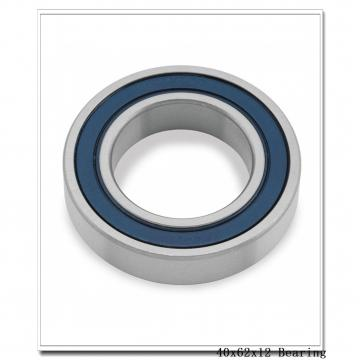 40 mm x 62 mm x 12 mm  KOYO 3NCHAR908CA angular contact ball bearings