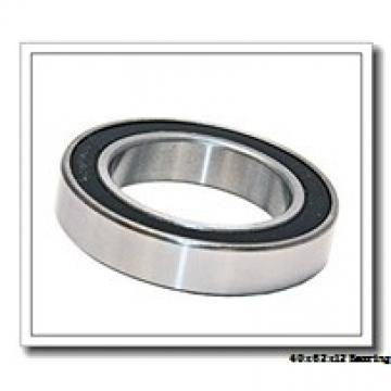 40 mm x 62 mm x 12 mm  NSK 40BNR19H angular contact ball bearings