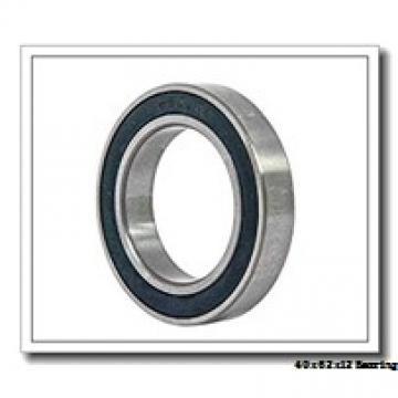 40 mm x 62 mm x 12 mm  NSK 40BNR19XE angular contact ball bearings